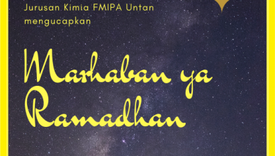 Marhaban Ya Ramadhan, jurusan kimia FMIPA Untan,